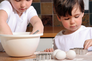 Children baking recipes
